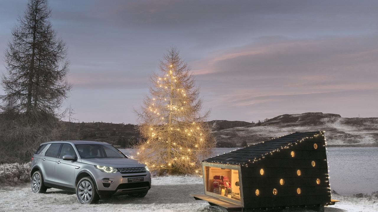 La cabane pour le Père Noël du Discovery Sport