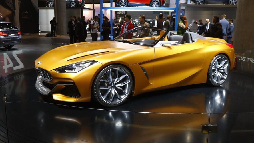 BMW Z4 konsepti Avrupa lansmanı için Frankfurt'ta