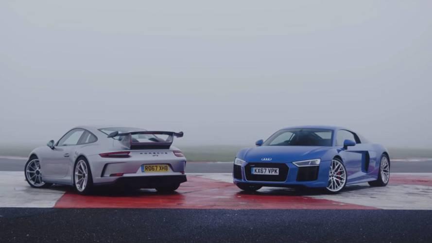 Islak zeminde hangisi daha başarılı? 911 GT3 vs R8 RWS