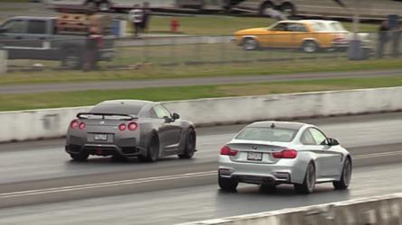 Place Your Bets: Nissan GT-R Vs. BMW M4 Drag Race