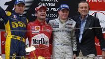 2004: 1. Rubens Barrichello, 2. Jenson Button, 3. Kimi Raikkonen