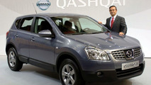 Nissan Qashqai with Mr Ghosn