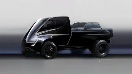 Première image du pick-up de Tesla