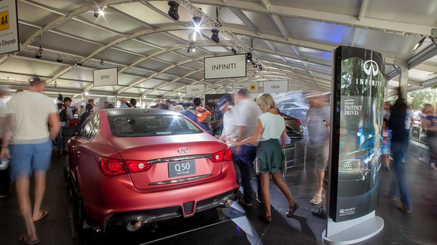 Infiniti Q50 Eau Rouge prototype tackles Goodwood [video]