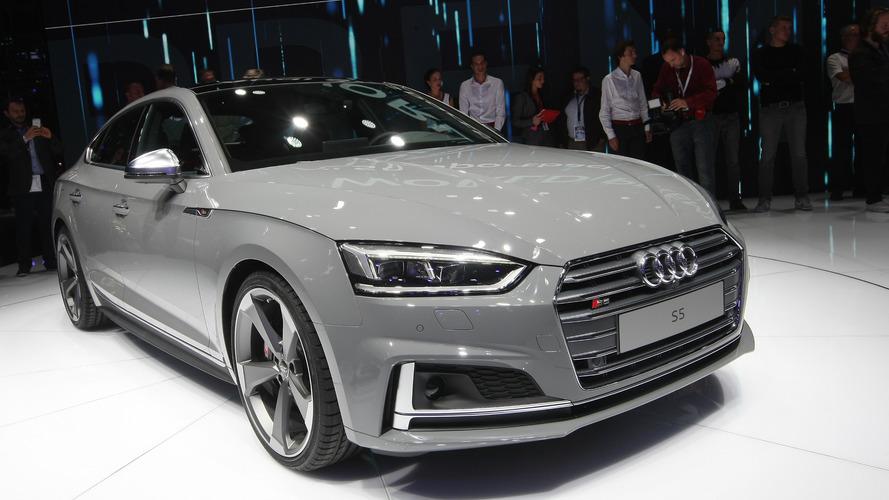 Audi S5 Coupe, Sportback grace Paris with their sleek bodies