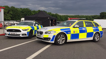 Ford Mustang with UK police livery