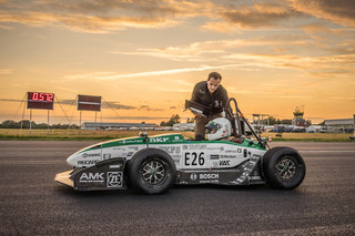 Student-Built Electric Racecar Smashes 0-62MPH World Record
