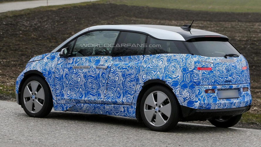 BMW i3 with range-extending engine spied showing more metal