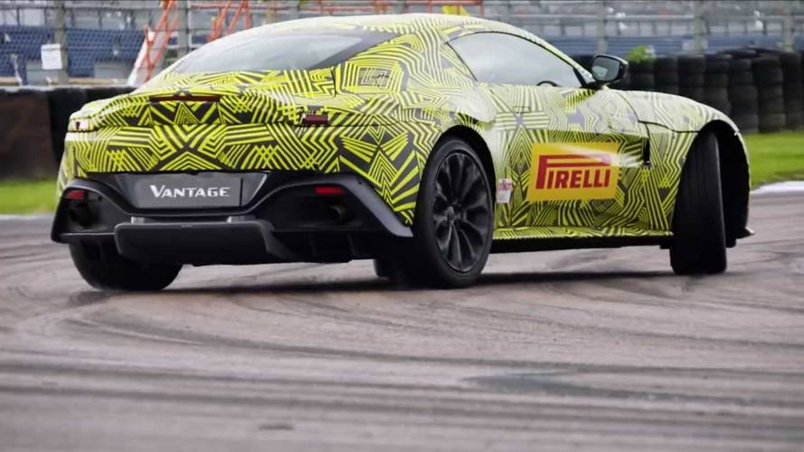 Aston Martin Vantage gets slo-motion sideways in latest video