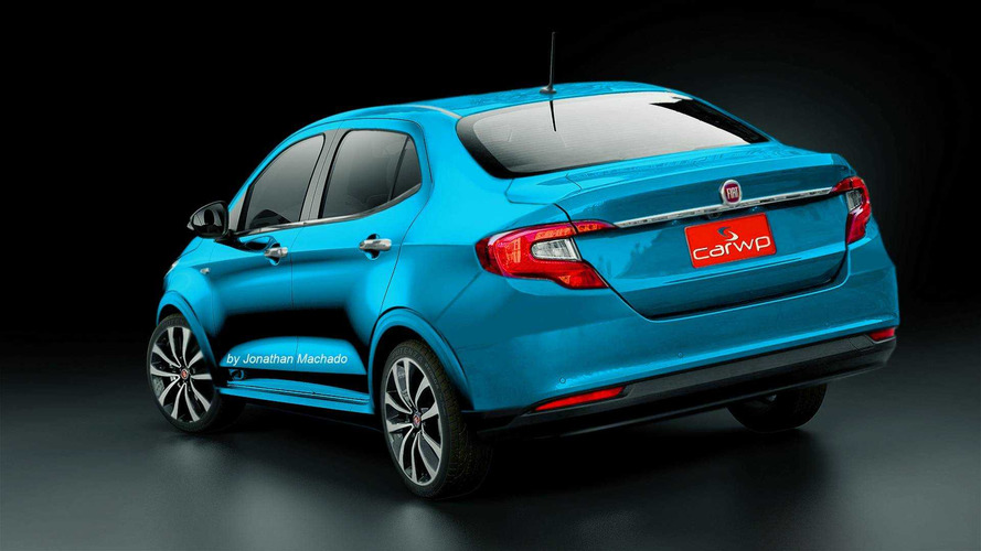 Projeção - Será assim o novo Fiat Grand Siena, o projeto X6S?