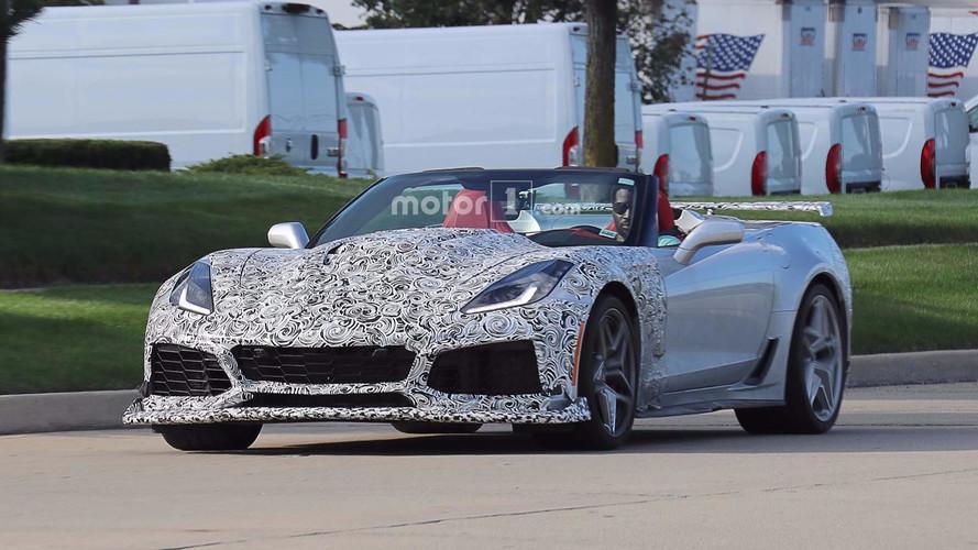 2018 Chevrolet Corvette ZR1 Convertible Spy Photos