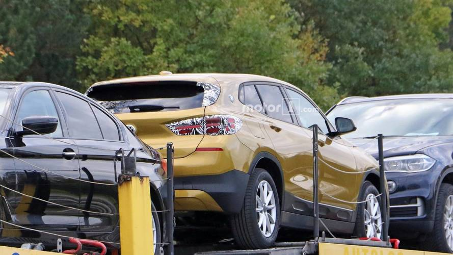 2018 BMW X2 with almost no camouflage spy photos