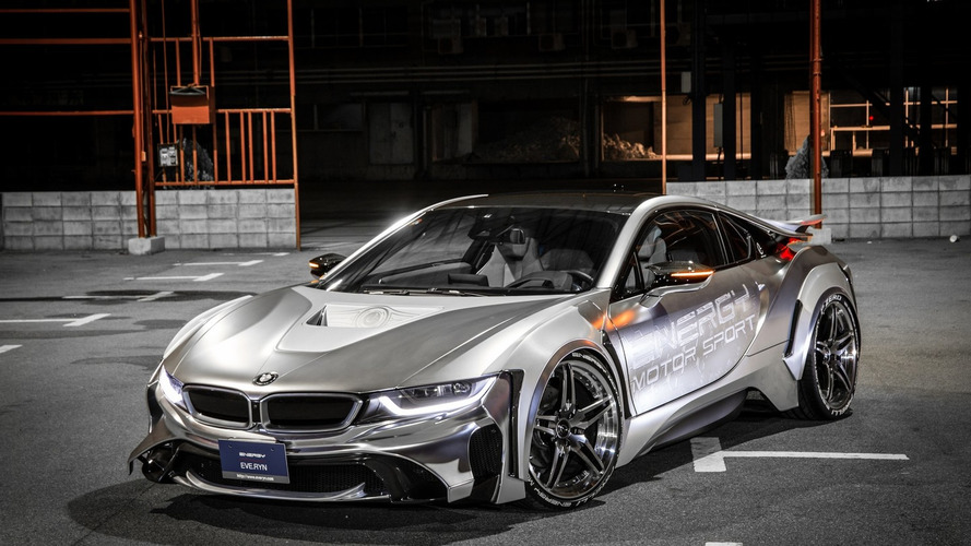 Great imagery with tuned BMW i8 looking like a UFO