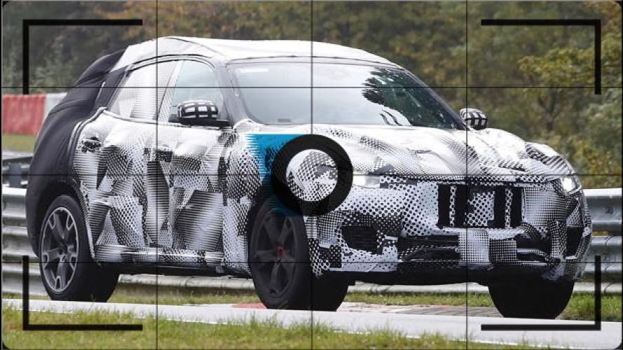 Maserati Levante, foto spia al Nurburgring