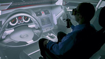 Visualization cave featuring interior of GTI