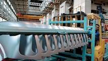 MINI tonneau panel at Swindon plant