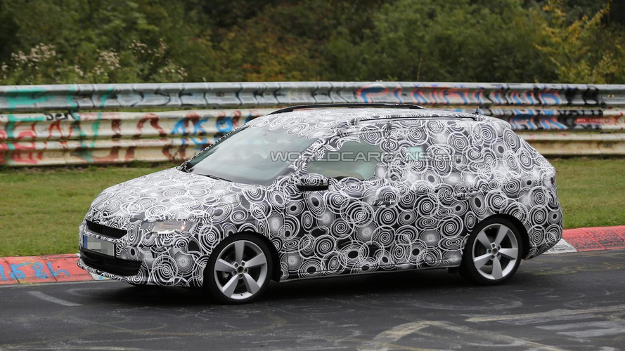 Fully camouflaged 2015 Skoda Fabia Combi spied on the Nurburgring