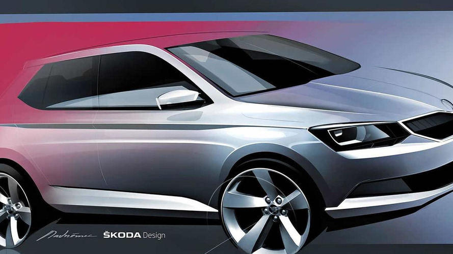 2015 Skoda Fabia teased via official design sketch