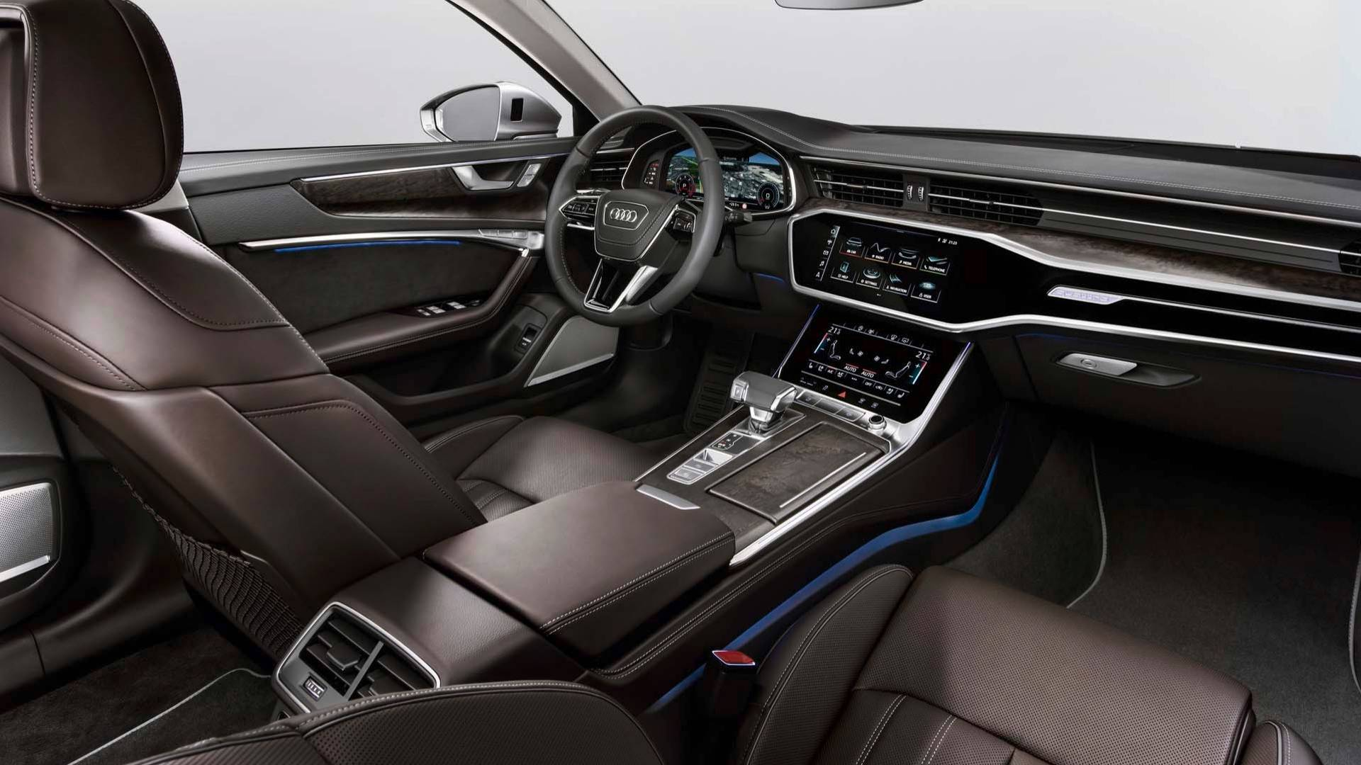 2019 audi a6 revealed a little bit bigger a lot more tech. Black Bedroom Furniture Sets. Home Design Ideas