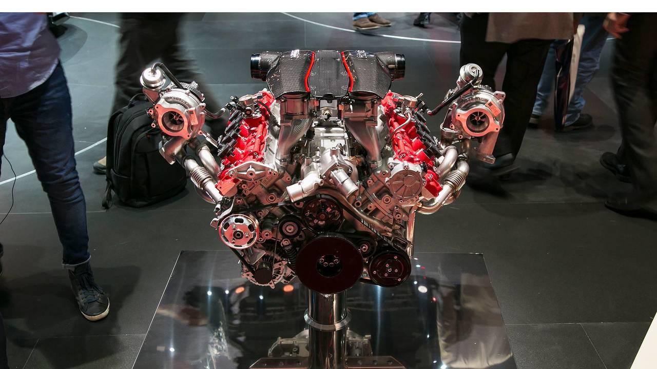 Motor Ferrari V8 biturbo