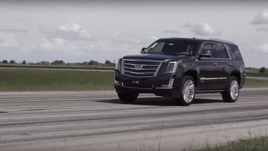 Watch an 842 hp Cadillac Escalade go from 0 to 60 in 3.9 seconds