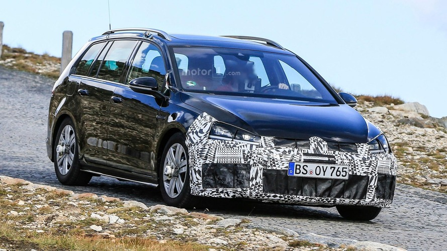 VW Golf R prototypes camouflage discreet facelift
