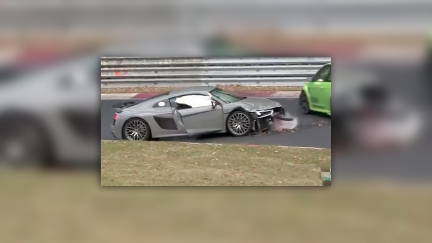 Watch this Audi R8 bite it hard on the Nurburgring