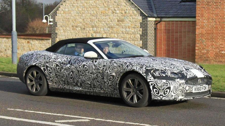 2012 Jaguar XK cabrio facelift spied