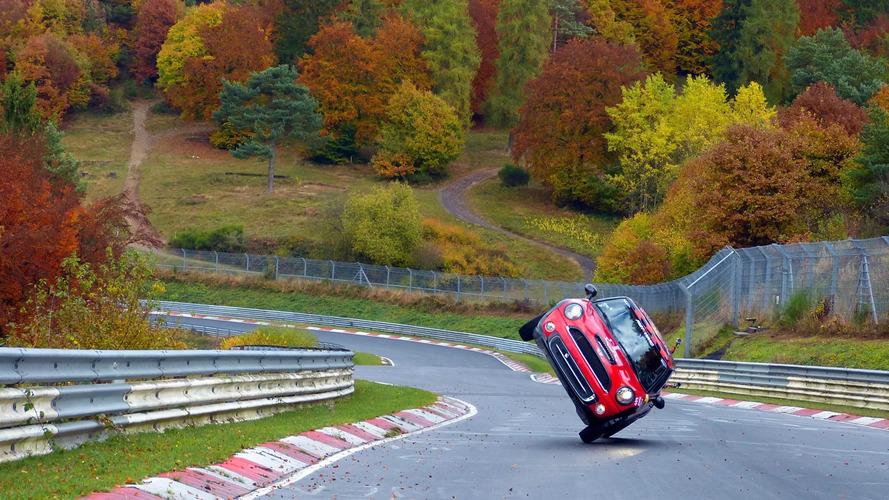 Mini laps the Nurburgring on two wheels