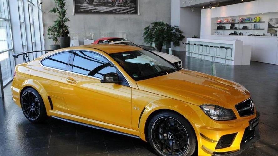 Solarbeam-colored Mercedes-Benz C63 AMG Coupé Black Series