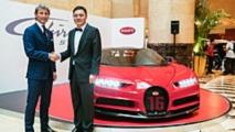 La Bugatti Chiron Sport exposée à Singapour