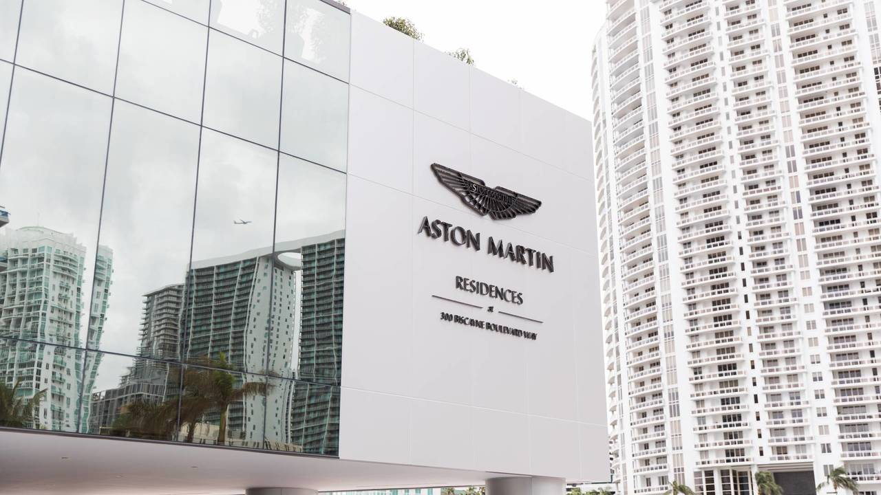 Aston Martin building block of flats