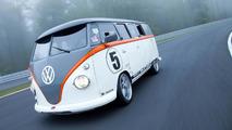 Un Volkswagen T1 de 1962 à moteur Porsche biturbo