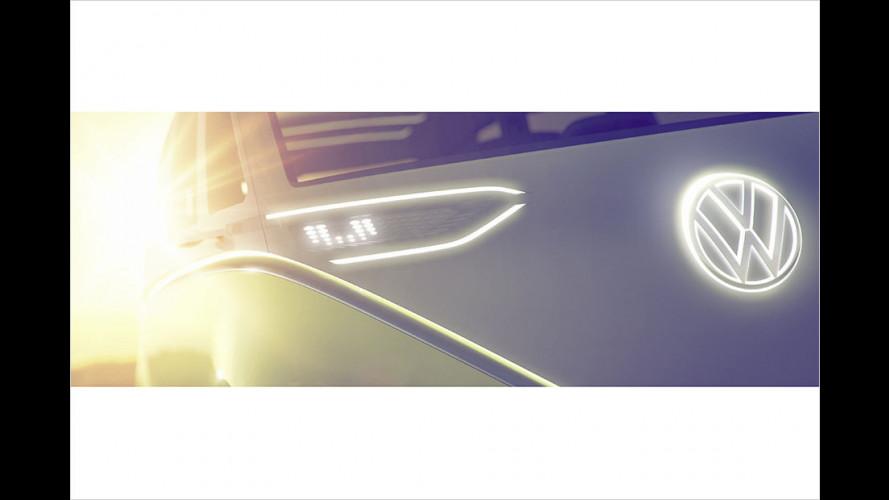 VW-Elektro-Bulli steht in Detroit