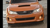 Subaru WRX STI Orange and Black