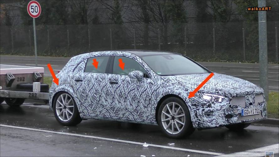 Mercedes A-Class Spied With Wider Wheel Arches, Could Be GLA