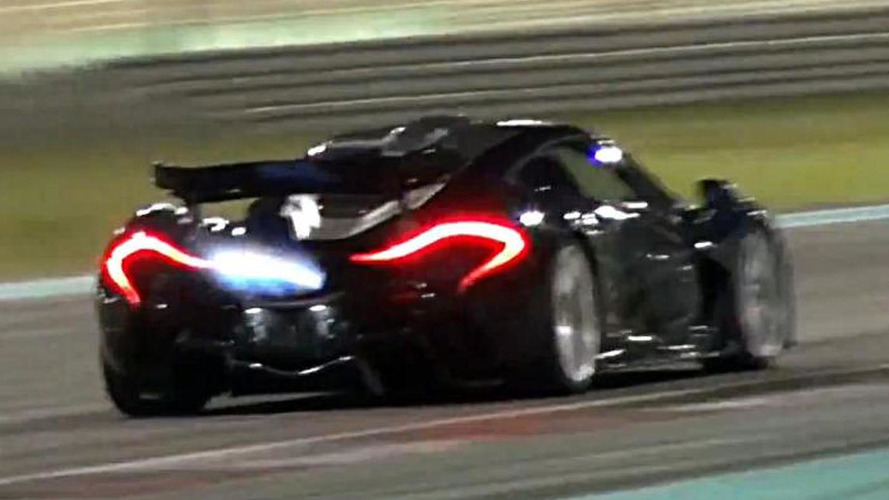 McLaren P1 has a flame throwing session at Yas Marina [video]