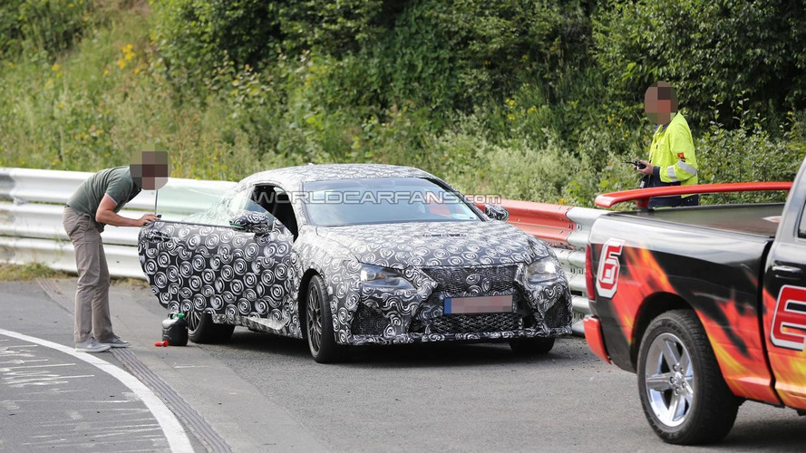 Lexus IS-F Coupe spied at Nurburgring handing gas to a Hyundai Genesis Coupe