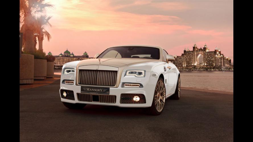 Rolls-Royce Wraith Palm Edition 999, bagnata nell'oro