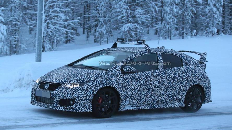 Honda Civic Type R spied near the Arctic Circle