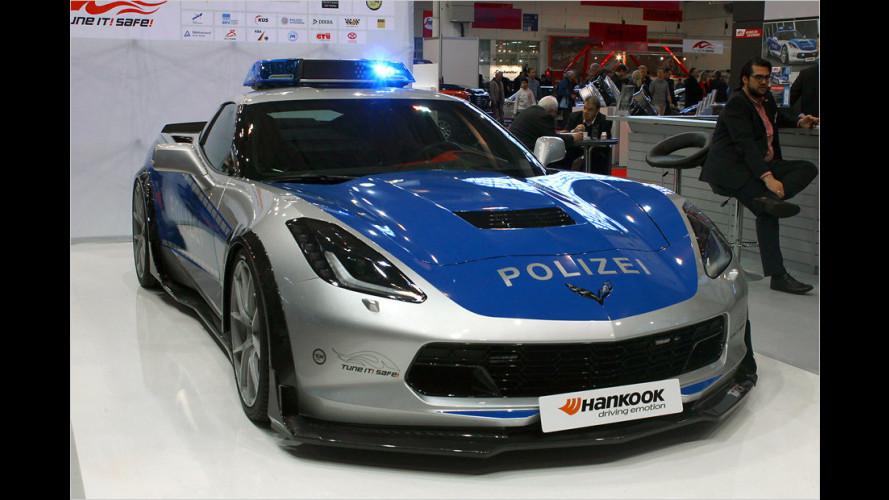 Blaulicht-Corvette