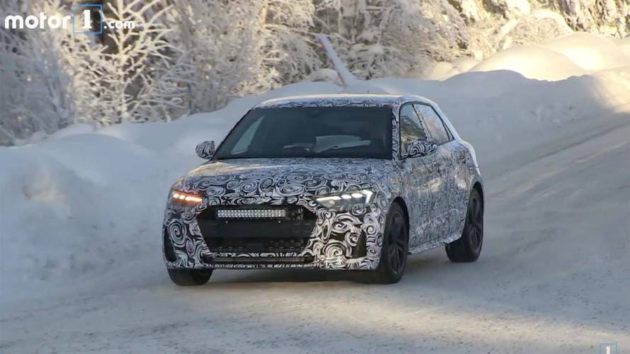 2019 Audi A1 Caught With Production Body Testing On Snowy Roads