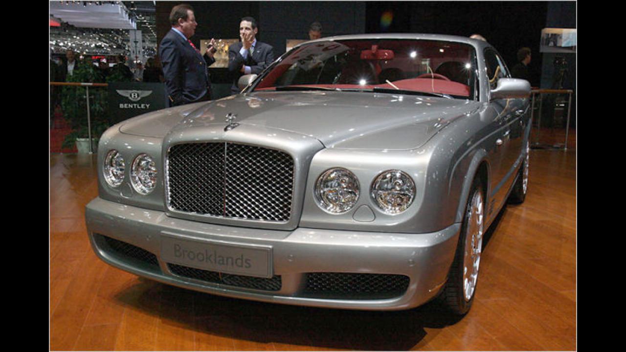 Bentley Brooklands: Auch das britische Grand Touring Coupé auf Basis des Azure steht in Genf