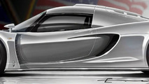Hennessey Venon GT concept illustration - wing down - 1280