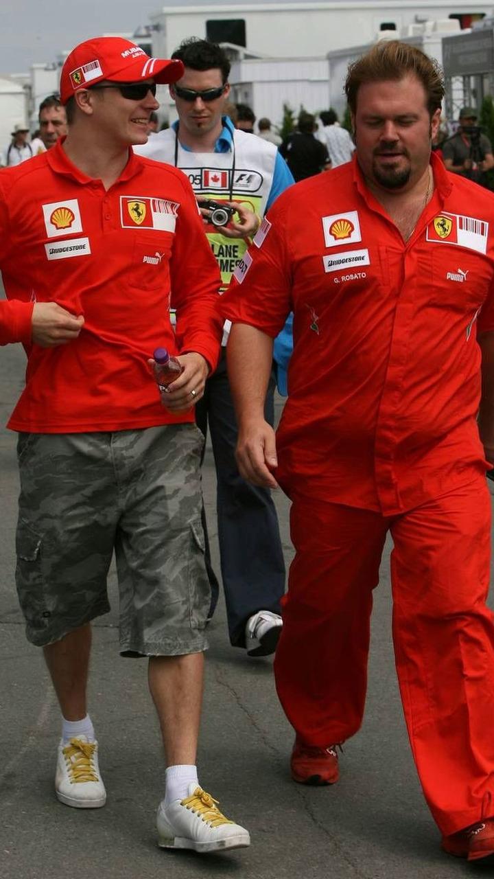 Kimi Raikkonen (FIN), Scuderia Ferrari with Gino Rosato (ITA), Security, Canadian Grand Prix, Sunday, Montreal, Canada, 08.06.2008