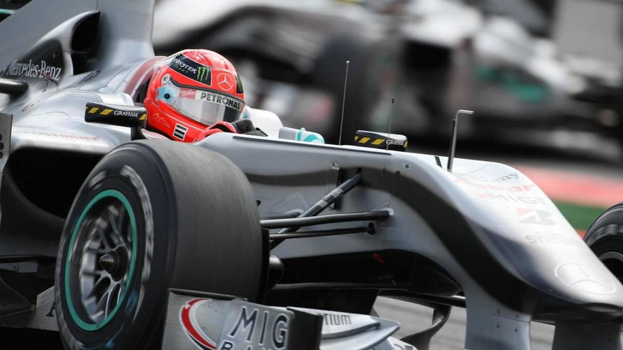 Schumacher says car 'not always same' as Rosberg's