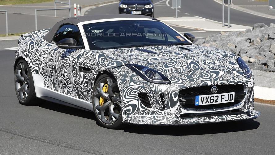 Jaguar F-Type R Roadster caught testing on the Nurburgring