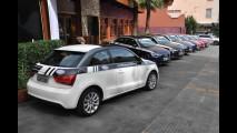 Jornalistas conferem consumo do Audi A1 em desafio de SP ao RJ