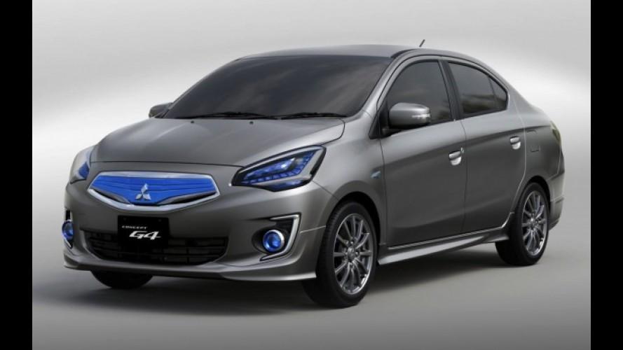 Sedã compacto da Mitsubishi será antecipado pelo G4 Concept em Xangai