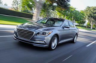 The 2015 Hyundai Genesis Anticipates and Slows for Speed Cameras
